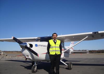Shakewan som flyskoleelev